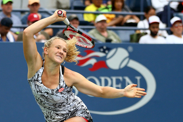 September 1, 2016 - Katerina Siniakova of the Czech Republic in action against Caroline Garcia of France during the 2016 US Open at the USTA Billie Jean King National Tennis Center in Flushing, NY.